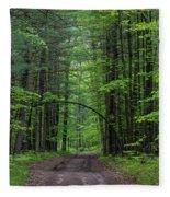 Manistee National Forest Michigan Fleece Blanket