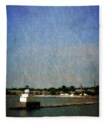 Manitowoc Breakwater Light 2.0 Fleece Blanket