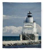 Manitowoc Breakwater Lighthouse Fleece Blanket