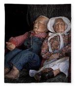 Mannequin Old Couple In Shop Window Display Color Photo Fleece Blanket