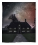 Manor At Night Fleece Blanket