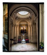 Mansion Hallway Triptych Fleece Blanket