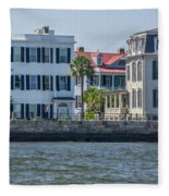 Mansions By The Water Fleece Blanket