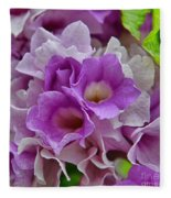 Mansoa Alliacea Fleece Blanket