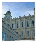 Manti Temple North Fleece Blanket