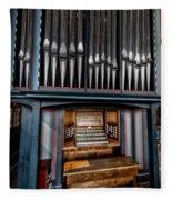 Manual Pipe Organ Fleece Blanket