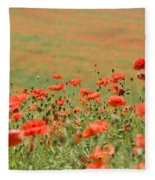 Many Poppies Fleece Blanket