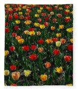 Many Tulips Fleece Blanket