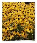 Many Yellow Blooms Fleece Blanket