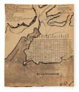 Map Of Alexandria 1798 Fleece Blanket