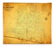 Map Of Detroit Michigan C 1835 Fleece Blanket