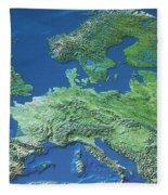 Map Of Europe Fleece Blanket