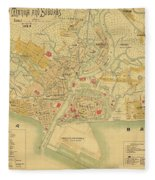 Map Of Manila 1899 Fleece Blanket