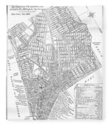 Map Of New York City, 1803 Fleece Blanket