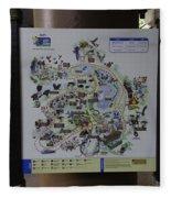 Map Of The Jurong Bird Park Along With A Tourist Fleece Blanket