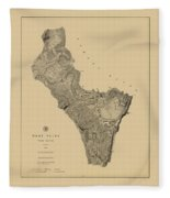 Map Of West Point 1883 Fleece Blanket