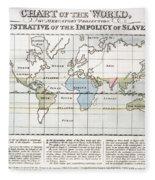 Map Sugar Trade Fleece Blanket
