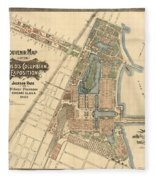 Map: Worlds Fair, 1893 Fleece Blanket