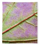 Maple Leaf Macro Fleece Blanket