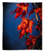 Maple Leaves Shadows Fleece Blanket