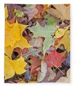 Maple Leaves Fleece Blanket