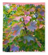 Maple Magnetism Painting Fleece Blanket