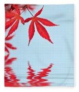 Maple Reflection Fleece Blanket