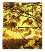 Maple Sunset - Paint Fleece Blanket