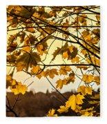 Maple Sunset Fleece Blanket