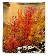 Maples Along The Palisades Fleece Blanket