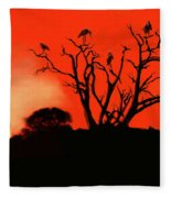 Marabou Tree Fleece Blanket