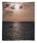 Marathon Sunset Fleece Blanket