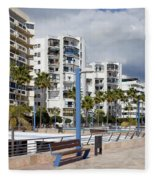 Marbella Apartment Buildings Fleece Blanket