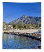 Marbella Holiday Resort In Spain Fleece Blanket