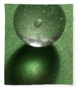 Marble Clear On Green 1 Fleece Blanket