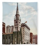 Marble Collegiate Church Holland House New York Fleece Blanket