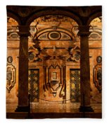 Marble Decor In The Sevilla Cathedral Fleece Blanket