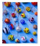 Marbles On Blue Board Fleece Blanket
