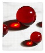 Marbles Red 2 Fleece Blanket