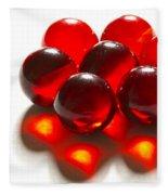 Marbles Red 3 C Fleece Blanket