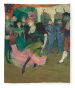 Marcelle Lender Dancing The Bolero In Chilperic Fleece Blanket