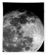 March Full Moon Fleece Blanket