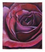 March Rose Fleece Blanket