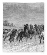 March To Trenton, 1776 Fleece Blanket
