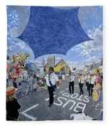 Marching Band, Brecon Jazz Festival, 1994 Oil On Board Fleece Blanket