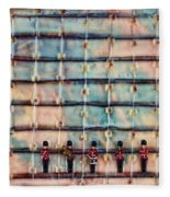 Marching Band Encaustic Fleece Blanket