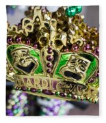 Mardi Gras Beads Fleece Blanket