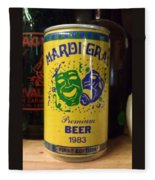 Mardi Gras Beer 1983 Fleece Blanket