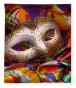 Mardi Gras - Celebrating Mardi Gras  Fleece Blanket