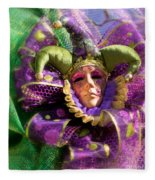 Mardi Gras Decoration Fleece Blanket